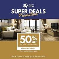 Hotel Deals Promotion Instagram Social Media template