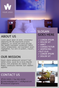 Customizable Design Templates For Hotel Flyer Template PosterMyWall - Hotel flyer templates free download