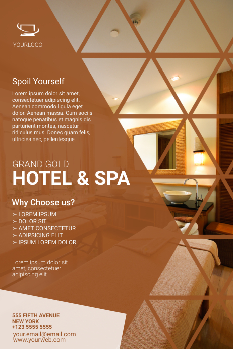 Hotel Flyer Template Poster