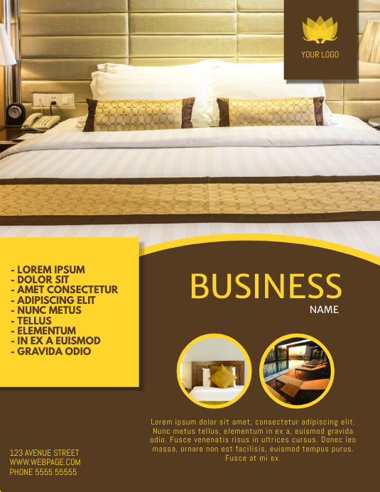 Hotel flyer template postermywall - New home design center checklist ...