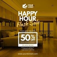Hotel Happy Hour Promotion Instagram template