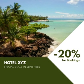 Hotel Promotion Bookings Sale Instagram Instagram-bericht template