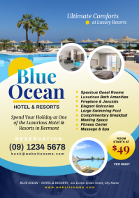 Hotel Promotion Flyer A4 template