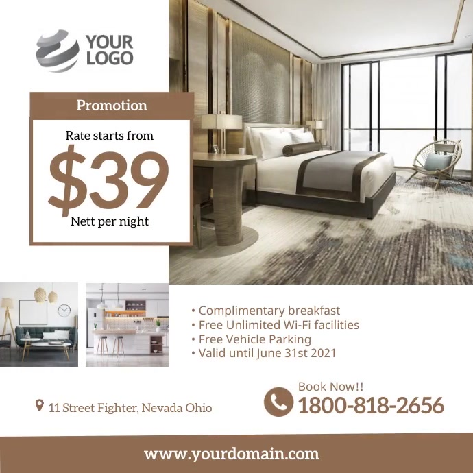 Hotel Promotion Instagram Social Media template