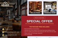 Hotel Promotional Poster template