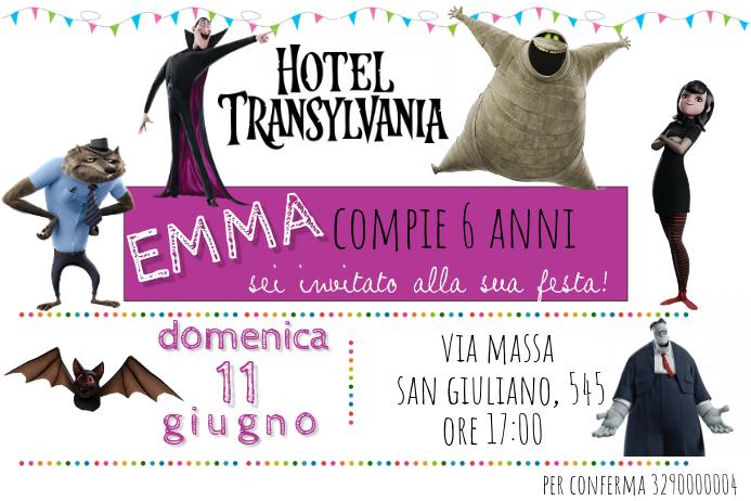 Plantilla De Hotel Transilvania Birthday Invitation