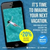 Hotel Travel instagram video ad design template