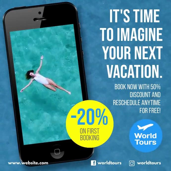 Hotel Travel instagram video ad design Iphosti le-Instagram template