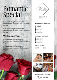 Hotel Weekend Special romantic Advert Flyer A4 template
