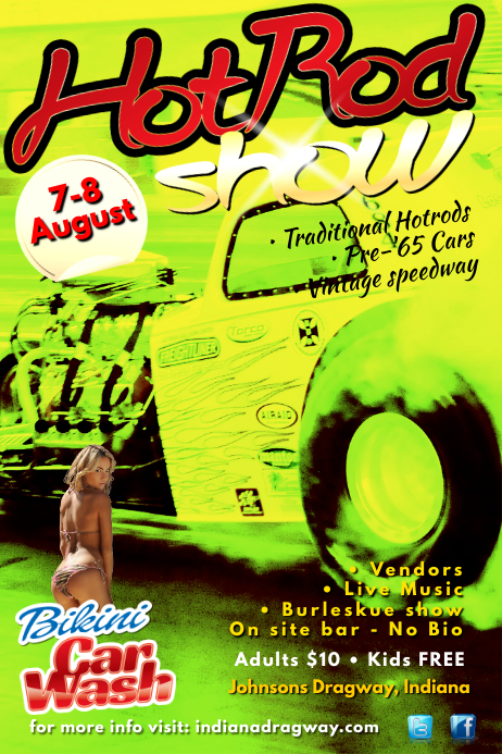 HotRod Show Poster template