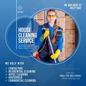 House cleaning Service instagram advert template