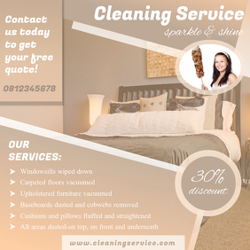 House Cleaning Service Online Ad Template