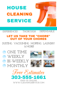 click a template to customize cleaning service flyer template