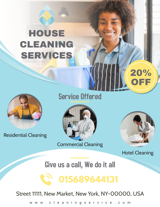 Professional House Cleaning Service Flyer Template