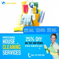 House Cleaning Services Ads Isikwele (1:1) template