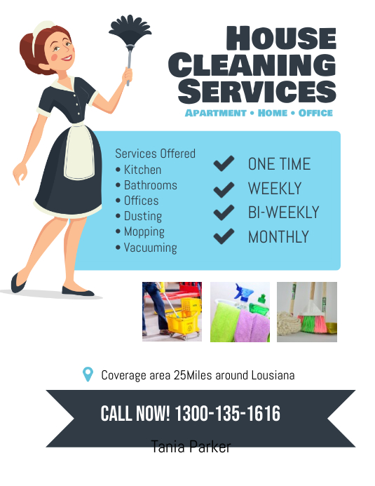 House Cleaning Services Flyer Poster