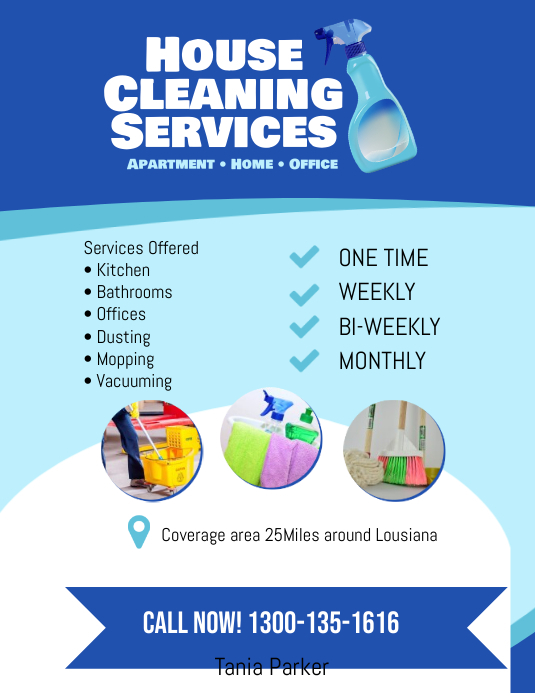 house cleaning services flyer poster template postermywall