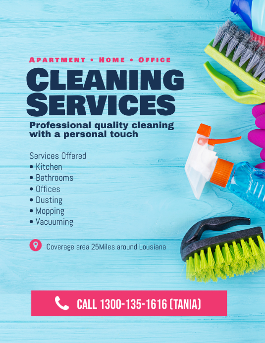 House Cleaning Services Flyer Poster Template