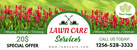 House Flower Trimming Lawn Care Banner Facebook Omslag Foto template
