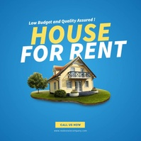 House For Rent Ad Instagram Post template