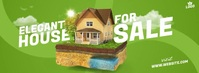 House For Sale Ad Copertina Facebook template