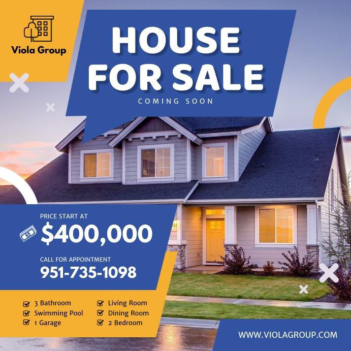 House for Sale Advertisement Social Media Ima Instagram Post template