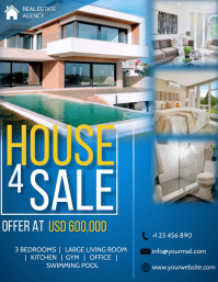house for sale flyer Pamflet (VSA Brief) template