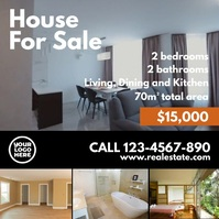 House For Sale Instagram Video Flyer template