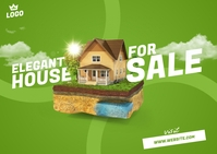 House For Sale Postcard Carte postale template