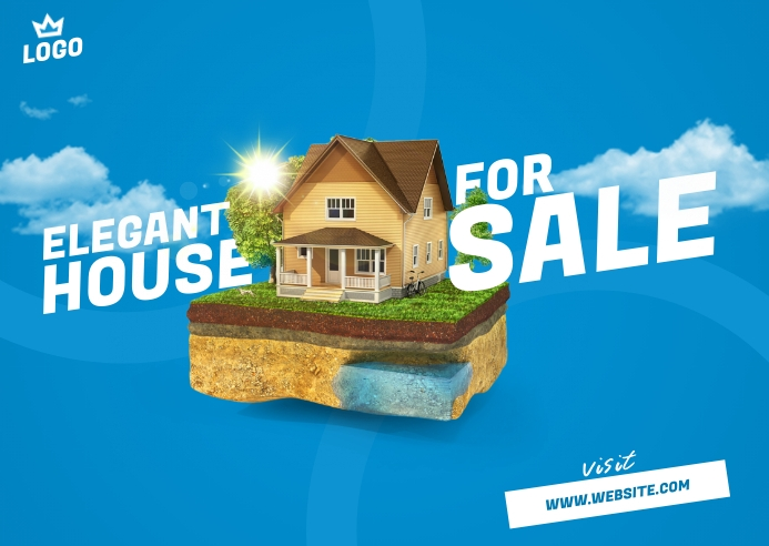 House For Sale Postcard Briefkaart template