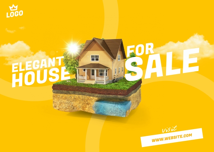 House For Sale Postcard template