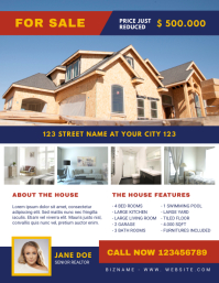 House for Sale Real Estate Flyer