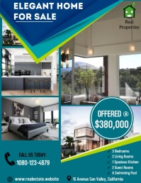 House for sale Real Estate Sale Open House Pamflet (VSA Brief) template
