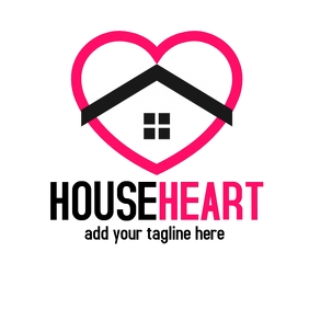House heart logo iconic logo