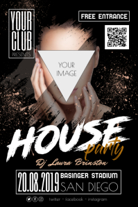 House Night Party Disco Poster Flyer template