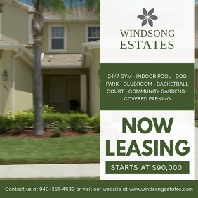 House Now Leasing Video Ad Template