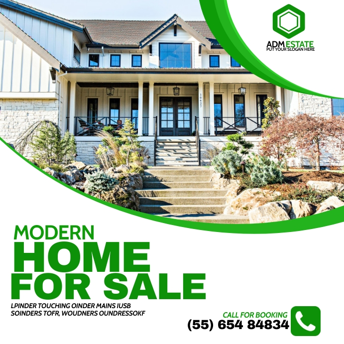House on sale flyer Instagram Post template