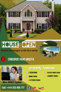 HOUSE OPEN Banner 4' × 6' template