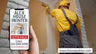 House Painter Promotion Video Template Digital Display (16:9)