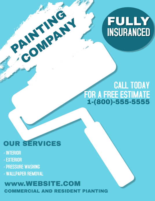 House Painting Flyer (US Letter) template