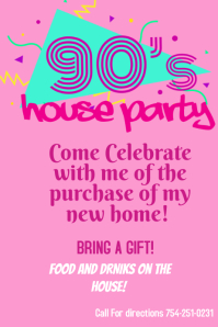 house party Poster template