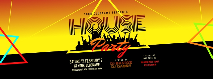 House Party Facebook Cover Photo template