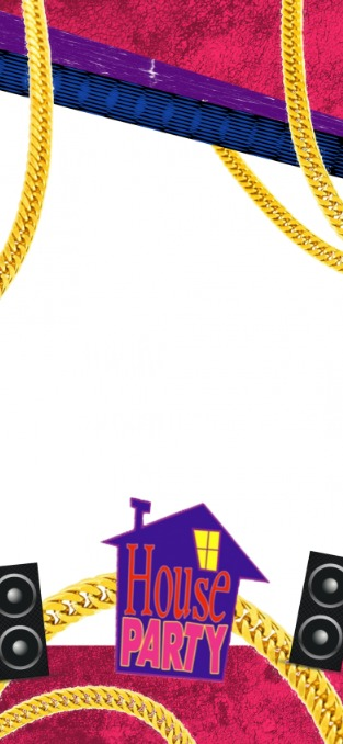 House Party Geofilter template