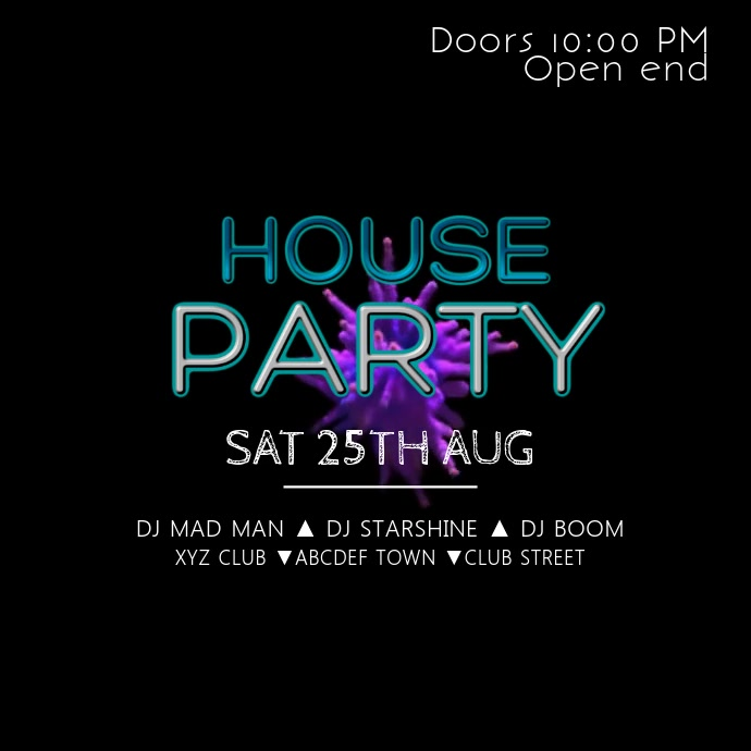 House Party Music electronic instagram Club