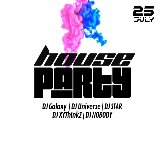 House party video advert Music Techno Abstract splash color
