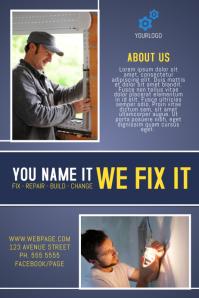 House repair fix business flyer template