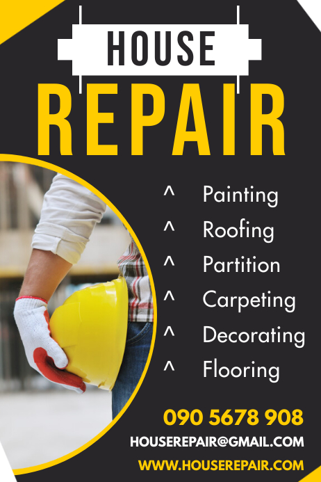 HOUSE REPAIR FLYER Plakkaat template