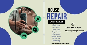 HOUSE REPAIR FLYER Facebook Shared Image template