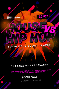 House vs Hip Hop Party Flyer Template