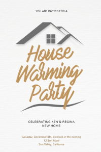 House Warming Party Flyer Design Template